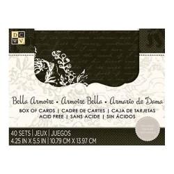 Заготовки для листівок та конверти Bella Amoire, 40 шт, DCWV, CM-025-00064