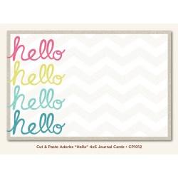 Картка для журналінгу Hello (Cut & Paste, My Mind's Eye, CP1012