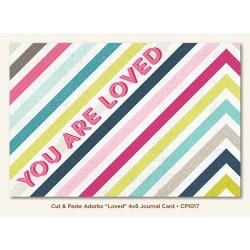 Картка для журналінгу Loved (Cut & Paste), My Mind's Eye, CP1017