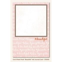 Картка для журналінгу Beautiful (Cut & Paste), My Mind's Eye, CP2001