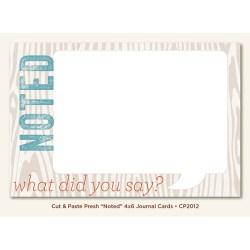 Картка для журналінгу Noted (Cut & Paste), My Mind's Eye, CP2012