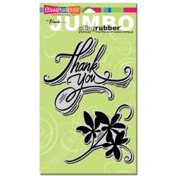 Штамп гумовий Jumbo Thank You, Stampendous, CRS5003