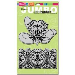 Штамп гумовий Jumbo Romantic Border, Stampendous, CRS5021