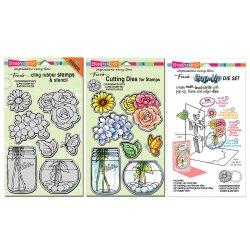 Набір ножів та штампів для виготовлення Pop Up листівок Build A Bouquet, Stampendous, CRS5074
