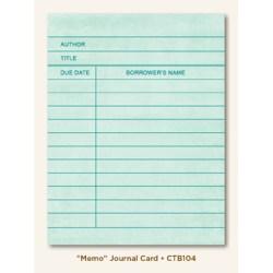 Картка для журналінгу Memo (Collectable), My Mind's Eye, CTB104