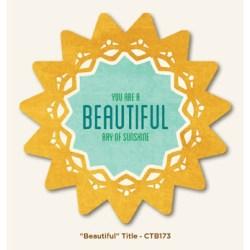 Картка для журналінгу Beautiful, My Mind's Eye, CTB173