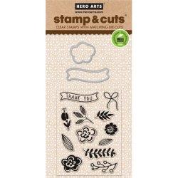Набір штампи + ножі Stamp & Cut Flowers, Hero Arts, DC130