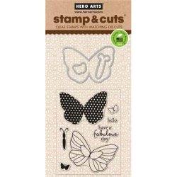 Набір штампи + ножі Stamp & Cut Butterflies, Hero Arts, DC134