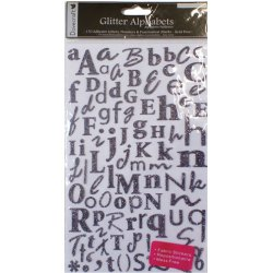 Наклейки Alphabet Glitter Stickers – Charcoal, DCAS16