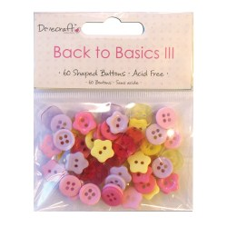 Ґудзики Back to Basics III – Mini Buttons, DCBN003