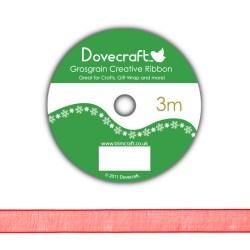 Рулон стрічки Dovecraft Christmas Ribbon, органза, 3м, DCCR010