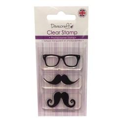 Штамп Mustache & Glasses, Dovecraft, DCCS025