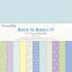 Набір паперу Back to Basics IV, 20х20 см, Dovecraft, DCDP130