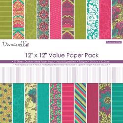Набір паперу Crowning Affair Value Pack, 30×30 см, Dovecraft, DCDP166