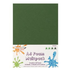 Вспінена гума декоративна Green Multiple Pack, A4, Dovecraft, DCFM003