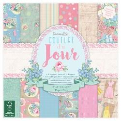 Набір паперу Couture Du Jour, 20×20 см, Dovecraft, DCPAP039