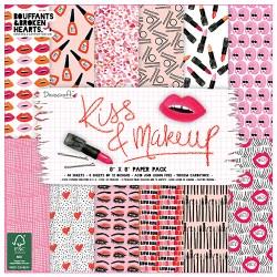 Набір паперу Kiss and Make Up, 20×20 см, Dovecraft, DCPAP056
