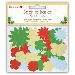 Набір квітів Dovecraft Christmas Back to Basics з паперу, DCXBL05