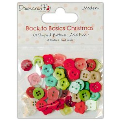 Ґудзики Back to Basics Christmas Modern, Dovecraft, DCXBN07