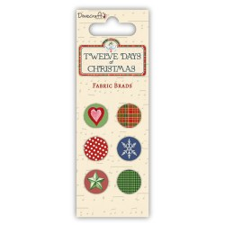 Брадси тканинні 12 Days of Christmas, Dovecraft, DCXES12