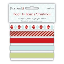 Набір стрічок Back to Basics Christmas Modern, DCXRB02