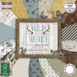 Набір паперу Wild At Heart, 15×15 см, First Edition, FEPAD136