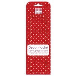 Папір для декупажу Deco Maché – Red Polka, First Edition, FEXDEC002