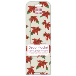 Папір для декупажу Deco Maché – Poinsettia, First Edition, FEXDEC006