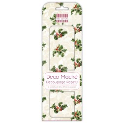 Папір для декупажу Deco Maché – Holly, First Edition, FEXDEC007