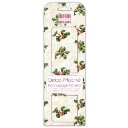 Папір для декупажу Deco Maché – Holly, First Edition, FEXDEC007