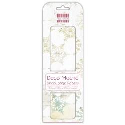 Папір для декупажу Deco Maché – Snowflakes, First Edition, FEXDEC012