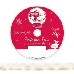 Рулон стрічки Fizzy Moon Festive Fun Ribbon, metallic, 1м, FZFFRB02