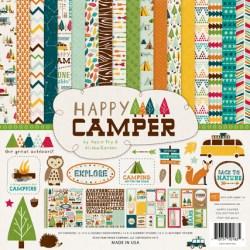 Набір паперу Happy Camper, 30х30 см, Echo Park, HC48016