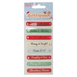 Наклейки Sentiment Toppers, Santa's Workshop, Helz Cuppleditch, HCXST13