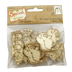 Дерев'яні фігурки Special Delivery by Helz Cuppleditch Wooden Characters – Penguins, HCXWC01