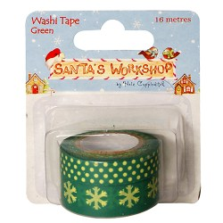 Паперовий скотч Santa's Workshop – Greens,  Helz Cuppleditch, HCXWT04