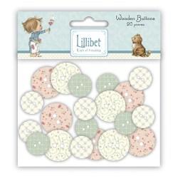 Ґудзики дерев'яні Lillibet Wooden Buttons, HMBN002