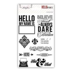 Штампи Hello My Name Is, Teresa Collins, HMN113