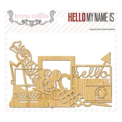Дерев'яні фігурки Hello My Name Is, Teresa Collins, HMN120