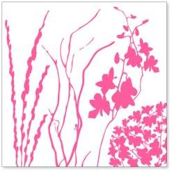 Оверлей Twigs & Weeds 30×30 Pink Overlay, HO558