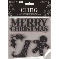 Штампи Cling Merry Christmas, IC0031