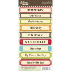 Лейби Days of the Week Soup Labels, Jillibean Soup, JBE8836