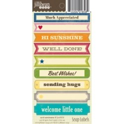 Лейби Card Sentiments II Soup Labels, Jillibean Soup, JBE8858