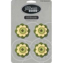 Набір квітів Felt Blossoms – Green, Jillibean Soup, JBJ7725