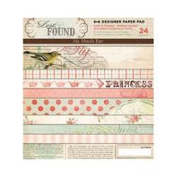 Набір картону Lost & Found Market Street, My Mind's Eye, 15х15 см, 24 ар., MAR6X6