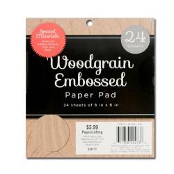 Набір паперу/дерева Woodgrain Embossed, 15х15 см, DCWV, MS-019-00148