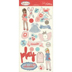 Висічки з чипборду Paper Dolls, PhotoPlay, PD2157