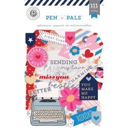 Висічки Ephemera Pen Pals, Pink Paislee, PP01260