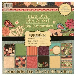 Набір паперу Dixie Diva, 30х30 см, Recollections, PS-005-00284