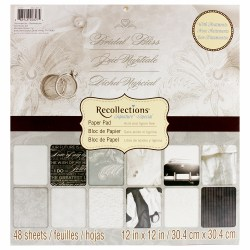 Набір паперу Bridal Bliss, 30х30 см, Recollections, PS-005-00322